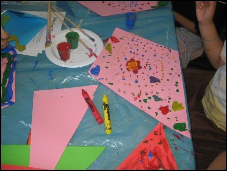 We had many ideas for the kids to decorate their kites for Decoration kite