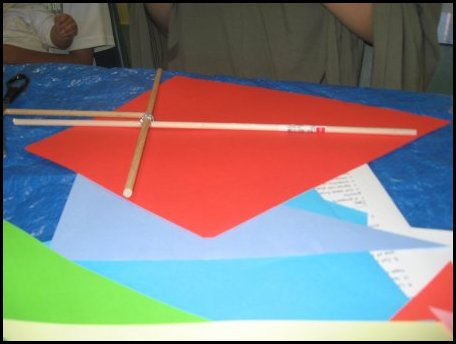 homeschool kite making activity day