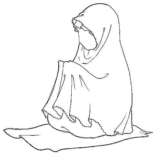 Girl Praying Coloring Page